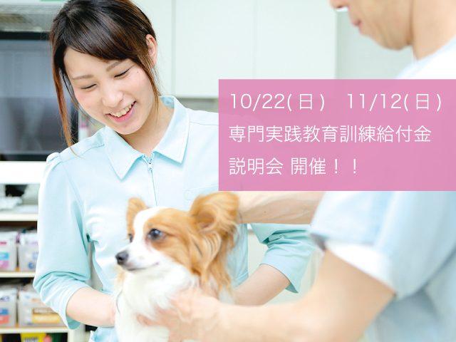 10月22日(日)・11月12日(日)専門実践教育訓練給付金制度の説明会を開催!